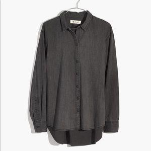 Madewell denim oversized ex-boyfriend shirt size M
